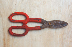 zinc rusty scissors Stock Images