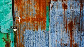 Zinc sheets. Old zinc sheets texture background, rusty on galvanized metal surface royalty free stock photos