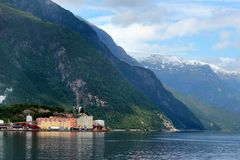 The zinc smelter plant of in Odda, Norway. The zinc smelter plant of Boliden in Odda, Hordaland county, Norway. Established back in the 1920s, it produces zinc stock photos