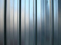 Zinc striped wall background Royalty Free Stock Images