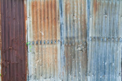 Zinc wall Royalty Free Stock Photography