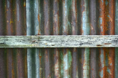 Zinc wall Royalty Free Stock Photo