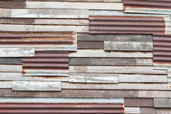 Zinc wall Royalty Free Stock Photo