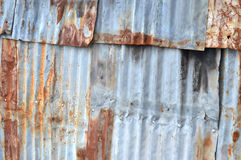 Zinc wall Royalty Free Stock Images