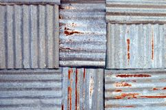 Zinc  wall Stock Images