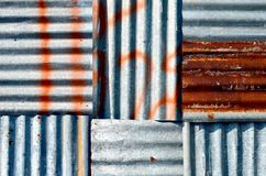 Zinc  wall Stock Image