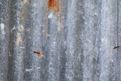 Zinc wall texture pattern background rusty corrugated metal old decay.  Stock Photos