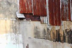 Zinc wall texture pattern rusty corrugated metal Stock Photography