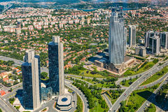 Zincirlikuyu District in istanbul Stock Photo