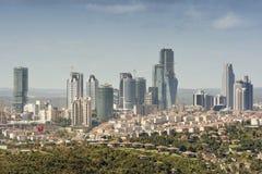Zincirlikuyu (finansiellt område), Istanbul, Turkiet Arkivfoto