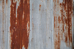 Zinco oxidado velho Fotos de Stock Royalty Free