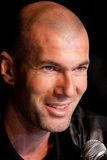 Zinedine Zidane. French soccer star Zinedine Zidane at press conference Royalty Free Stock Photo