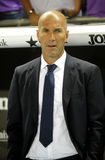 Zinedine Zidane manager of of Real Madrid royalty free stock photography