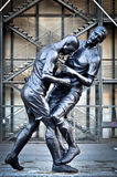 Zinedine Zidane and Marco Matezzari Sculpture Royalty Free Stock Images