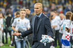 Zinedine Zidane Real Madrid stockbild