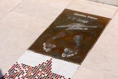 Zinedine Zidane's footprints Stock Image