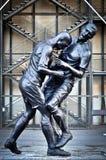 Zinedine Zidane y Marco Matezzari Sculpture Imágenes de archivo libres de regalías