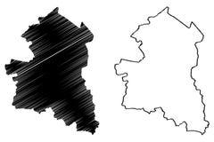 Zing Buri-de vector van de Provinciekaart stock illustratie