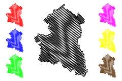 Zing Buri-de vector van de Provinciekaart royalty-vrije illustratie