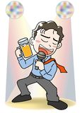 Zing een lied - Karaoke stock illustratie