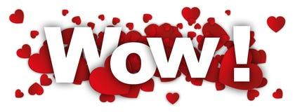 Zing wauw en rood hart royalty-vrije illustratie