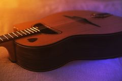 Zingaro Jazz Acoustic Guitar immagini stock