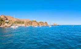 Zingaro Nationaal Park, Sicilië, Italië Royalty-vrije Stock Fotografie