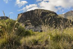 Zingaro Nature Reserve - Mediterranean landscape of Sicily, Italy. royalty free stock images