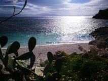 Zingaro van Riservadello bos en marien beschermd gebied Stock Fotografie