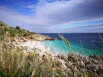 Zingaro van Riservadello bos en marien beschermd gebied Stock Afbeeldingen