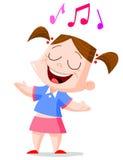 Zingend meisje Stock Fotografie