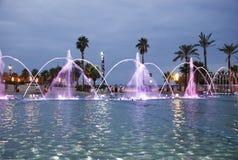 Zingende fontein in Salou Spanje Stock Afbeelding
