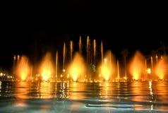 Zingende fontein in Salou Spanje Stock Fotografie