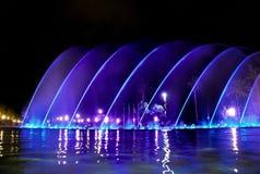 Zingende fontein in Salou Spanje Stock Afbeeldingen