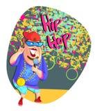 Zingende hiphopster Stock Afbeeldingen