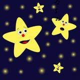 Zingende ster Royalty-vrije Stock Afbeelding