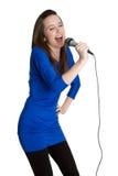 Zingende Vrouw royalty-vrije stock afbeeldingen