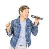 Zingende vrouwen stock afbeeldingen