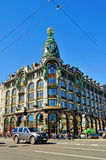 Zinger House at nevsky Prospect in Saint Petersburg, Russia. ST PETERSBURG, RUSSIA - AUGUST 4, 2015. Zinger House on Nevsky Prospect in the historic center of Royalty Free Stock Photo