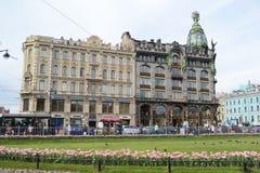 Zinger House on Nevsky Prospect. ST.PETERSBURG, RUSSIA - 24 MAY, 2012: Zinger House on Nevsky Prospect in the historic center of St. Petersburg Royalty Free Stock Photos