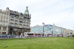 Zinger House on Nevsky Prospect. Stock Photography