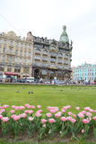 Zinger House on Nevsky Prospect. Stock Photos