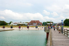 Zingst beach promenade Royalty Free Stock Photography