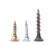 Zinked and anodized screws Royalty Free Stock Image