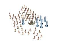 Zinked e parafusos anodizados Fotografia de Stock