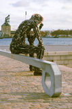 ZinkGlOBAL rzeźba w Kopenhaga Obraz Royalty Free