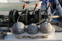 Zinkloden voor visserij Stock Foto's