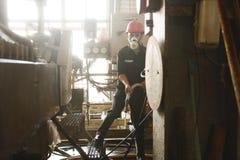 Zinkmijn Ingenieurs schoonmakende machine in fabriek Stock Afbeelding