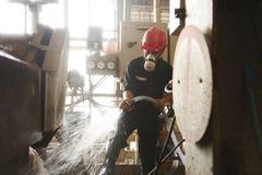 Zinkmijn Ingenieurs schoonmakende machine in fabriek Royalty-vrije Stock Afbeelding