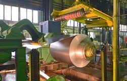 Zinkrollen van staal stock afbeeldingen